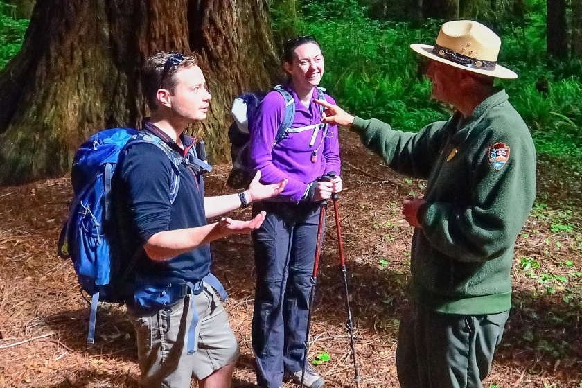 Greg Litten helps visitors find their way in Redwood National and State Parks
